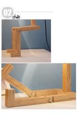 Деревянный ночник с ногами Человечек