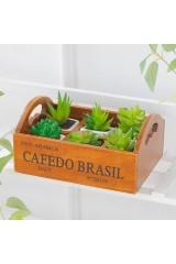 Деревянный органайзер для цветов Cafedo Brasil