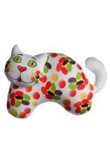 Антистрессовая игрушка-подушка Сладенький кот - карамель