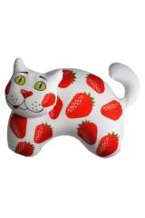 Антистрессовая игрушка-подушка Сладенький кот - клубника