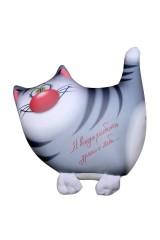 Антистрессовая игрушка-подушка Серый кот