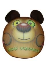 Антистрессовая игрушка-подушка Медведь