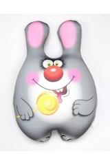 Антистрессовая игрушка-подушка Зайка-сладкоежка