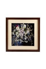 Картина 3D Белые цветы