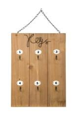 Панно с 6 крючками Keys