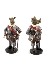 Фигурка декоративная Рыцарь Носорог