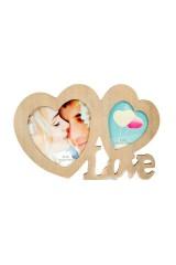 Фоторамка для 2 фото Любовь