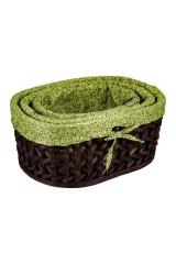 Набор плетеных корзинок