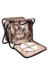 Набор для пикника на 2 персоне в сумке-стульчике