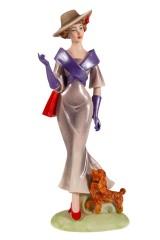Статуэтка Мадемуазель с собачкой