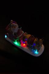 Фигурка светящаяся Дед Мороз в санях