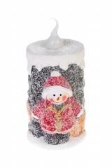 Фигурка светящаяся Свечка со снеговиком
