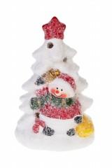 Фигурка светящаяся Елочка со снеговиком