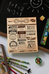 Тетрадь в линейку с косыми линиями с нанесением текста Vintage