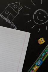 Тетрадь в линейку с нанесением текста В школу