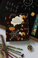 Тетрадь в линейку с нанесением текста «Хэллоуин»