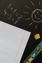 Тетрадь в клетку с нанесением текста В школу