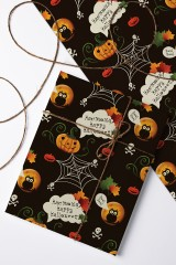 Бумага упаковочная К Хэллоуину
