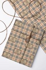 Бумага упаковочная с вашим текстом Шотландская клетка