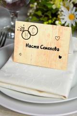 Банкетная карточка Мы женимся