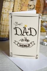 Открытка двойная Best Dad