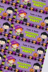 Набор наклеек с Вашим именем Веселого Хэллоуина