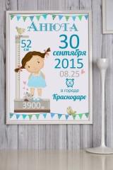 Постер в раме с Вашим текстом Азбука