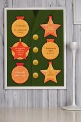 Постер в раме с Вашим текстом и фото Награды