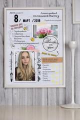 Постер в раме с Вашим текстом и фото Личный дневник
