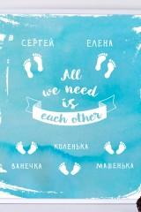 Набор постеров в рамах с Вашим текстом We need each other