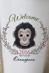 Термостакан с Вашим текстом Год обезьяны