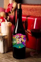 Этикетка на вино с Вашим текстом Поп-арт