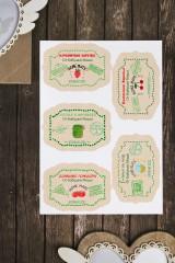 Набор наклеек для банок Домашние варенья и соленья