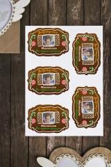 Набор наклеек на подарки с Вашим именем Имбирный домик