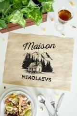Подтарельник с Вашим именем «Maison»