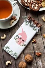 Шоколад с Вашим именем Цветочный единорог