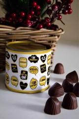 Банка шоколадных конфет с Вашим именем Кто именинник?