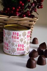 Банка шоколадных конфет с Вашим именем «Зимний город»