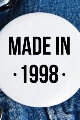 Значок с Вашим текстом Made in