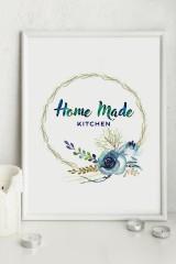 Постер 30х40 в раме Home made kitchen