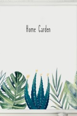 Постер в раме Home garden