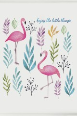 Постер в раме Фламинго
