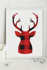 Постер в раме «Уютный олень»