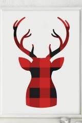 Постер в раме Уютный олень