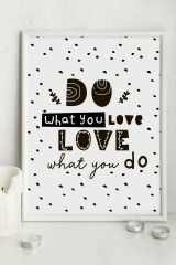 Постер 21х30 в раме Do what you love