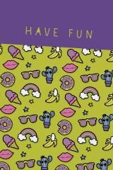 Блокнот в клетку Have fun