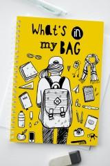 Блокнот в клетку «Что в моем рюкзаке»