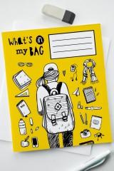 Тетрадь в клетку Что в моем рюкзаке