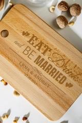 Доска разделочная с вашим текстом Be Married
