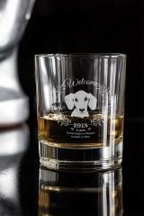 Стакан для виски с именной гравировкой Год собаки